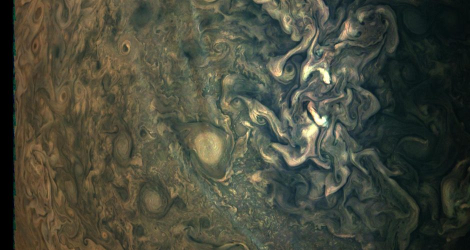 Haze and storms on Jupiter