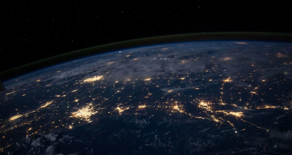 Earth lights seen from space